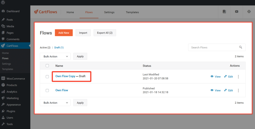How To Import Export Flows & Individual Page Builder Templates - 4