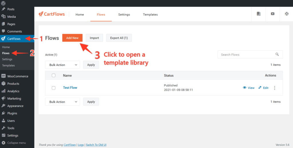 How to Import the Ready-Made Templates for Flows and Steps in CartFlows - 3
